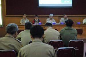 Kabid pemerintahan dan kesejahteraan Bappeda Mulat Setiadi AP, MSi